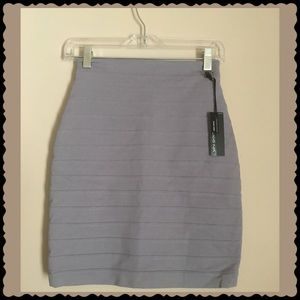 Express Gray Tiered High Waist Mini Skirt Size 00